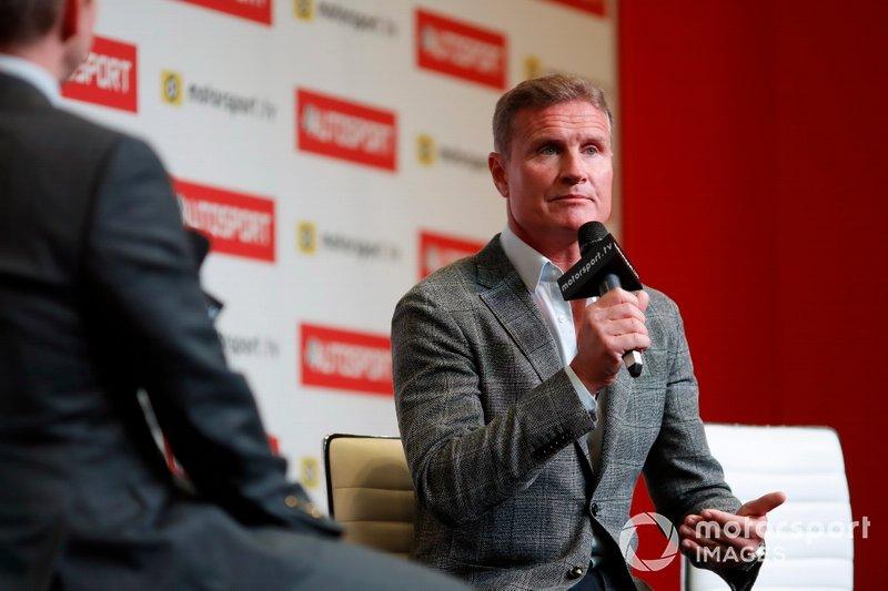 David Coulthard sul palco dell'Autosport