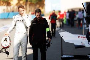Nico Müller, GEOX Dragon, Penske EV-4 walks back to the garage