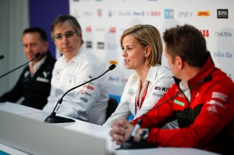 Susie Wolff, Team Principal, Venturi in the press conference
