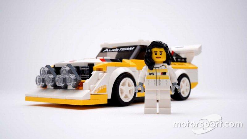 Модель Audi S1 и фигурка Мишель Мутон производства LEGO