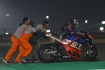 Miguel Oliveira na een crash