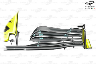 Renault R.S.19 old front wing