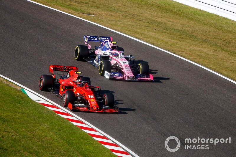 Charles Leclerc, Ferrari SF90, Lance Stroll, Racing Point RP19