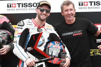 Polesitter Tom Sykes, BMW Motorrad WorldSBK Team, Troy Bayliss