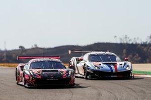#83 Iron Lynx Ferrari F488 GTE Evo: Rahel Frey, Michelle Gatting, Sarah Bovy, #88 AF Corse Ferrari F488 GTE Evo: François Perrodo, Alessio Rovera, Emmanuel Collard