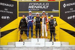 Podium: Alexander Smolyar, R-ACE GP, Victor Martins, MP Motorsport, Lorenzo Colombo, MP Motorsport, Caio Collet, R-ACE GP