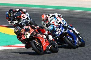 Chaz Davies, Aruba.it Racing-Ducati Team, Marco Melandri, GRT Yamaha WorldSBK, Tom Sykes, BMW Motorrad WorldSBK Team