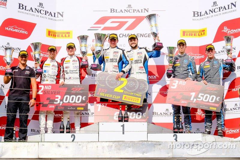 Silver-Podium: 1. #90 Akka ASP Team Mercedes-AMG GT3: Timur Bogulavskiy, Felipe Fraga, 2. #90 Akka ASP Team Mercedes-AMG GT3: Timur Bogulavskiy, Felipe Fraga, 3. 62 R-Motorsport Aston Martin Vantage AMR GT3: Aaro Vainio, Hugo de Sadeleer