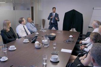 Daniel Ricciardo with INFINITI employees
