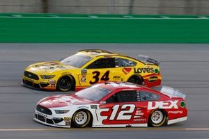Ryan Blaney, Team Penske, Ford Mustang DEX Imaging Michael McDowell, Front Row Motorsports, Ford Mustang Love's Travel Stops
