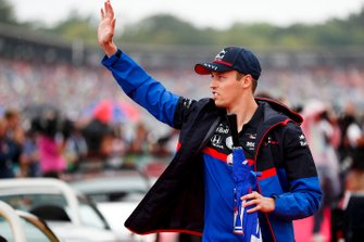 Daniil Kvyat, Toro Rosso on the drivers parade