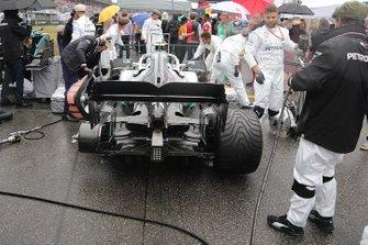 Mercedes AMG F1 W10 diffuser detail