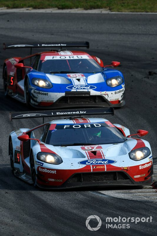 #67 Ford Chip Ganassi Racing Ford GT, GTLM: Ryan Briscoe, Richard Westbrook ,#66 Ford Chip Ganassi Racing Ford GT, GTLM: Joey Hand, Dirk Mueller