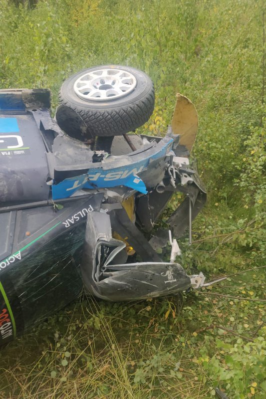 Crash of Hayden Paddon, M-Sport