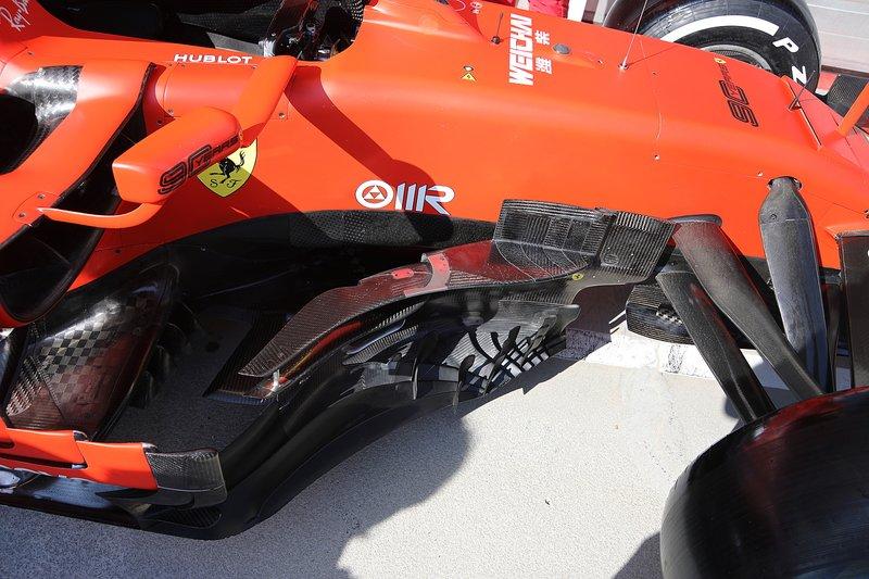 Les déflecteurs de la Ferrari SF90