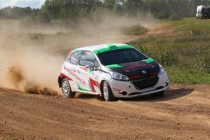Hubert Laskowski, Adam Jaros, Peugeot 208 R2, Rally Saldus