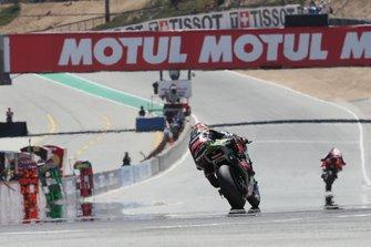 Jonathan Rea, Kawasaki Racing Team chases Chaz Davies, Aruba.it Racing-Ducati Team