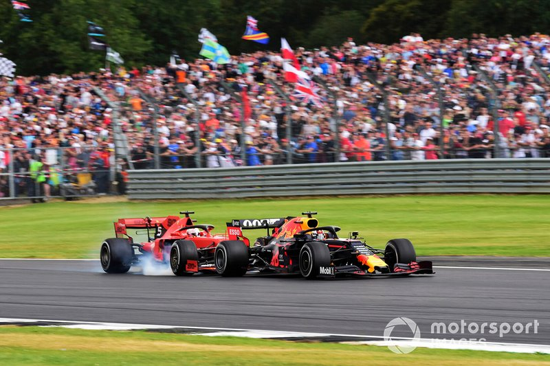 Sebastian Vettel, Ferrari SF90 running into the back of Max Verstappen, Red Bull Racing RB15