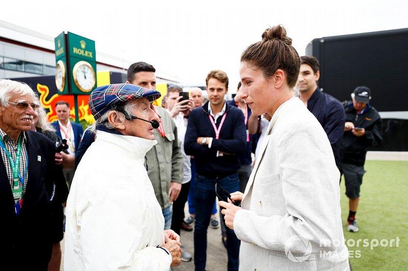 Sir Jackie Stewart, 3 veces campeón de F1, con un invitado