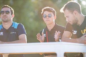 Nicholas Latifi, Dams Nyck De Vries, ART Grand Prix en Luca Ghiotto, UNI Virtuosi Racing