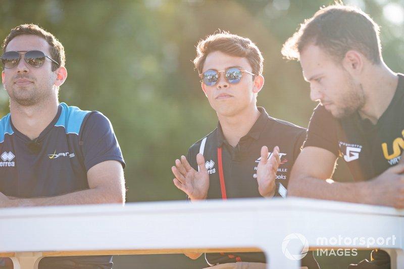Nicholas Latifi, Dams Nyck De Vries, ART Grand Prix and Luca Ghiotto, UNI Virtuosi Racing