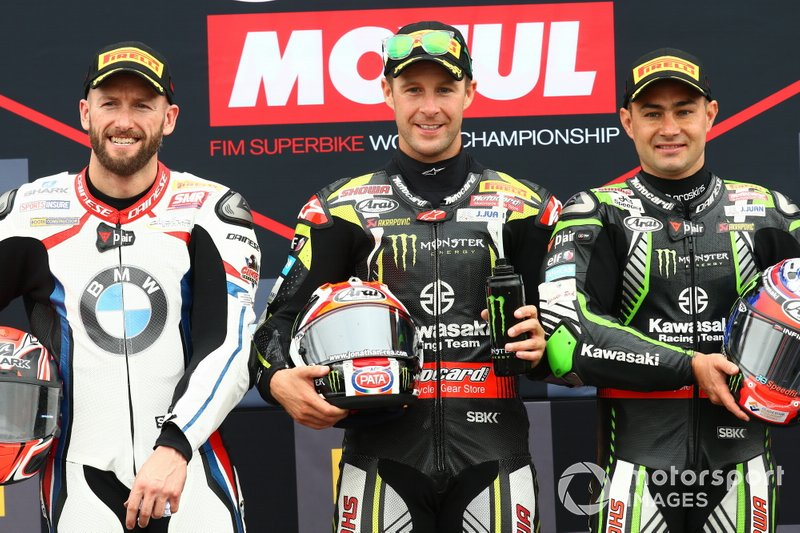Tom Sykes, BMW Motorrad WorldSBK Team, Jonathan Rea, Kawasaki Racing Team, Leon Haslam, Kawasaki Racing Team