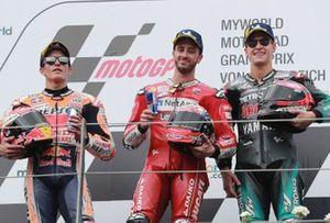 Podium: 1. Andrea Dovizioso, 2. Marc Marquez, 3. Fabio Quartararo