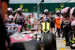 Prove pit stop della Racing Point
