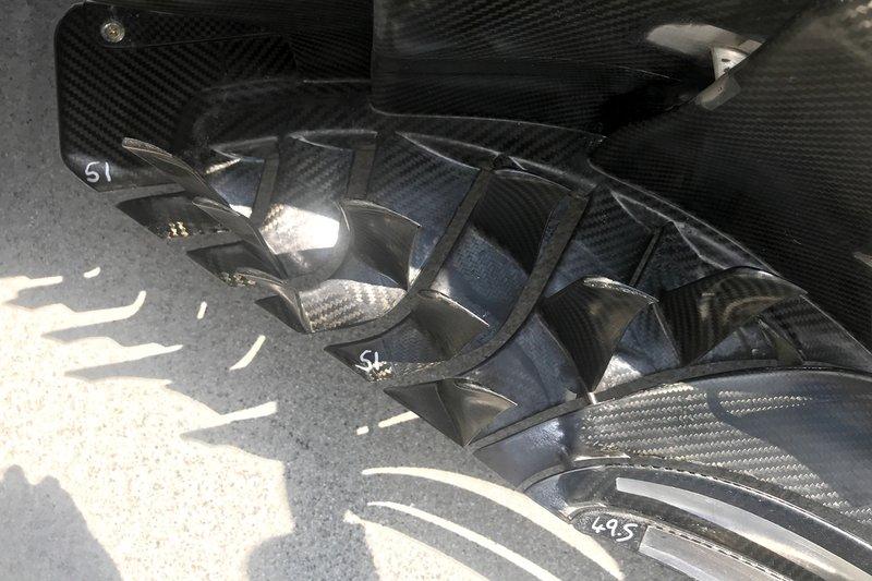Haas F1 Team VF-19, dettaglio delle barge board