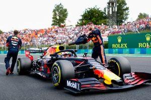 Max Verstappen, Red Bull Racing RB15 arriva sulla griglia
