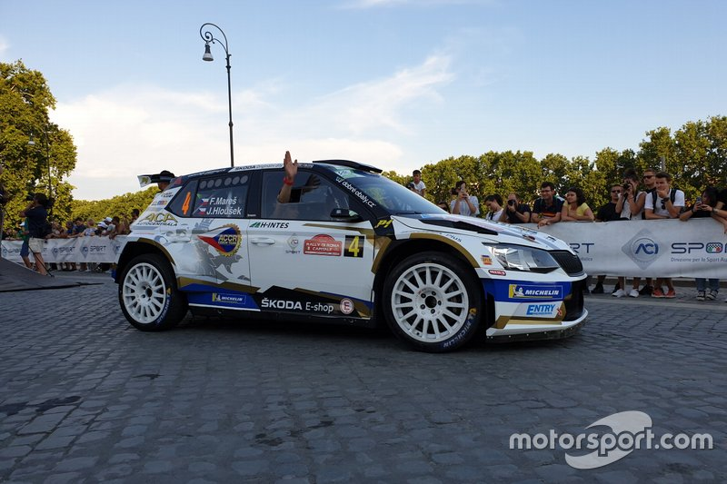 Filip Mareš, Jan Hlousek, Skoda Fabia R5, ACCR Czech Rally Team