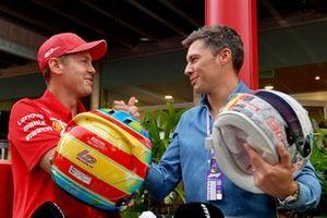Sebastian Vettel, Ferrari and Loic Duval