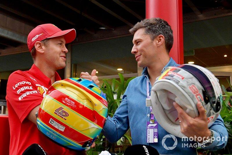 Sebastian Vettel, Ferrari és Loic Duval
