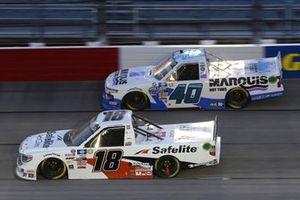 #18: Chandler Smith, Kyle Busch Motorsports, Toyota Tundra Safelite AutoGlass, #40: Ryan Truex, Niece Motorsports, Chevrolet Silverado Marquis Spas
