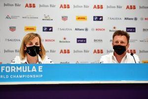 Susie Wolff, Team Principal, Venturi, Allan McNish, Team Principal, Audi Sport Abt Schaeffler, in the Press Conference