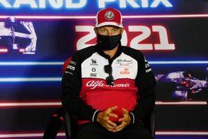 Kimi Raikkonen, Alfa Romeo Racing, en conférence de presse