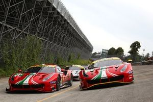 #51 AF Corse Ferrari 488 GTE Evo: Alessandro Pier Guidi, James Calado, #52 AF Corse Ferrari 488 GTE Evo: Daniel Serra, Miguel Molina