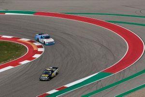John Hunter Nemechek, Kyle Busch Motorsports, Toyota Tundra ROMCO, Chase Purdy, GMS Racing, Chevrolet Silverado BamaBuggies.com