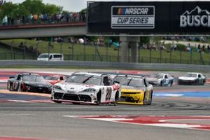 Harrison Burton, Joe Gibbs Racing, Toyota Supra DEX Imaging, A.J. Allmendinger, Kaulig Racing, Chevrolet Camaro Pit Boss Grills