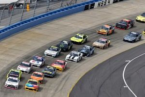 Austin Cindric, Team Penske, Ford Mustang Car Shop and Kyle Busch, Joe Gibbs Racing, Toyota Supra M&M's