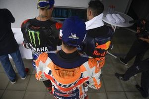 Podio: il vincitore della gara Marc Marquez, Repsol Honda Team, secondo classificato Miguel Oliveira, Red Bull KTM Factory Racing, terzo classificato Fabio Quartararo, Yamaha Factory Racing