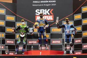 Raffaele De Rosa, Orelac Racing VerdNatura, Steven Odendaal, Evan Bros. WorldSSP Team, Jules Cluzel, GMT94 Yamaha