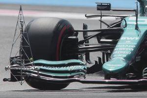 Aston Martin, dettaglio dei sensori montati sull'ala anteriore