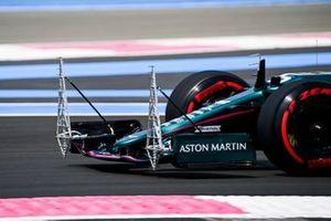 Equipment on the front wing of the car of Sebastian Vettel, Aston Martin AMR21