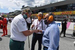 Otmar Szafnauer, Team Principal and CEO, Aston Martin F1, on the grid