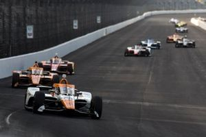 Juan Pablo Montoya, Arrow McLaren SP Chevrolet, Ryan Hunter-Reay, Andretti Autosport Honda, Marco Andretti, Andretti Herta-Haupert w/Marco & Curb-Agajanian Honda
