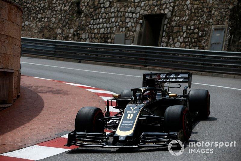 Haas подбадривает Грожана в середине гонки
