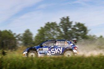 Lukasz Habaj, Daniel Dymurski, Skoda Fabia R5, FIA ERC, Rally Liepaja