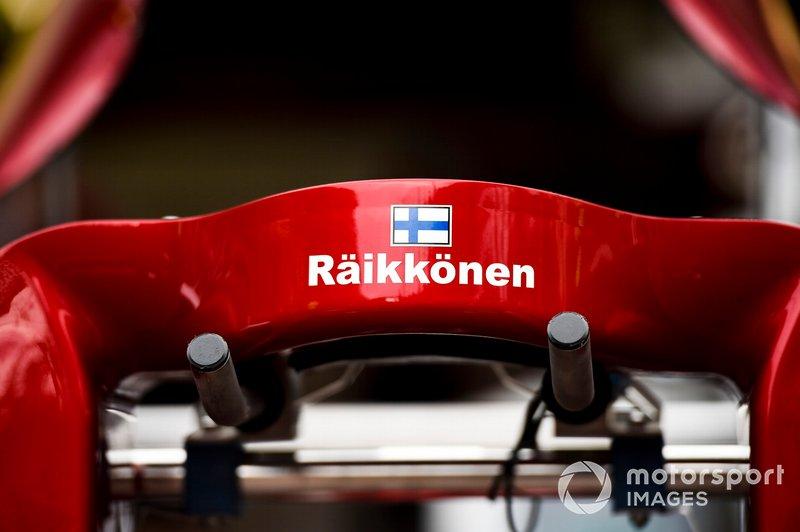 Poggiatesta di Kimi Raikkonen, Alfa Romeo Racing C38