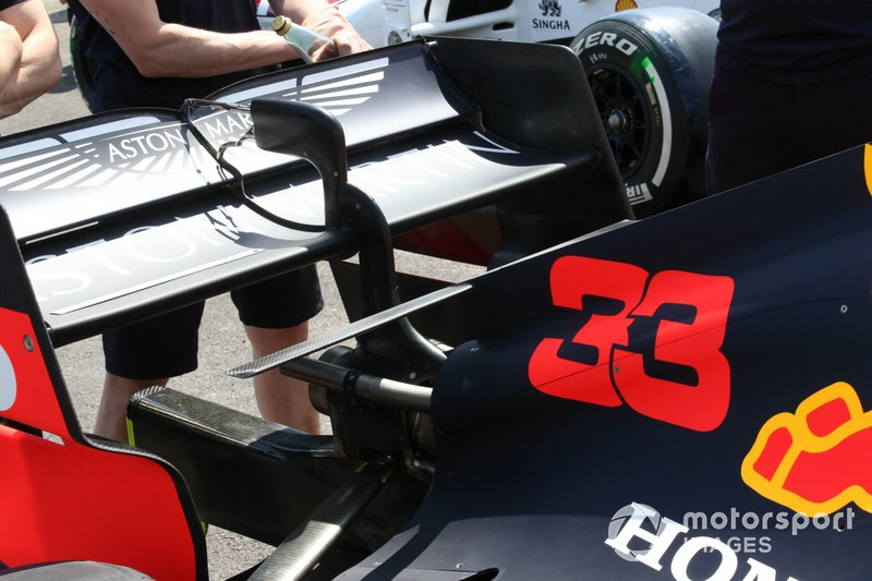 Detalle trasero del Red Bull Racing RB15